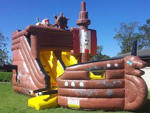 Pirate Ship Slide Jumping Castle