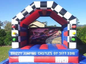 Racing Cars Jumping Castle