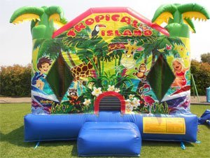 Tropical Island Jumping Castle