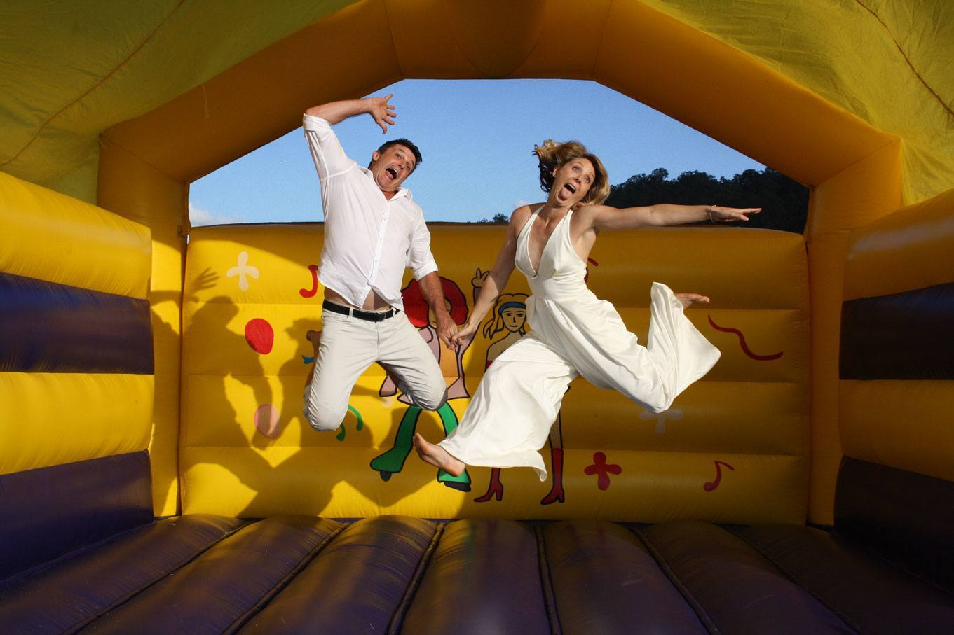 Disco Adults Jumping Castle - 8