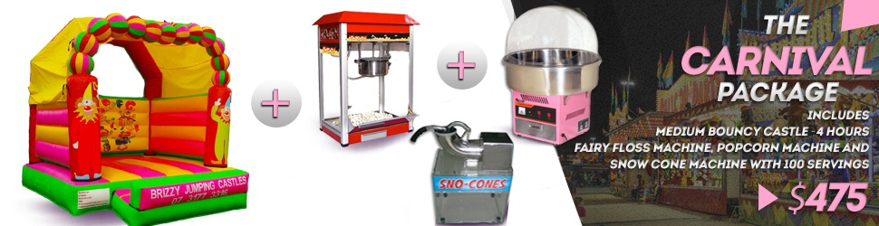 Carnival Package - Hire Fairy Floss Popcorn Snow Cone