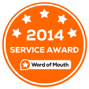 Word of Mouth Service Award 2014