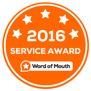 Word of Mouth Service Award 2016