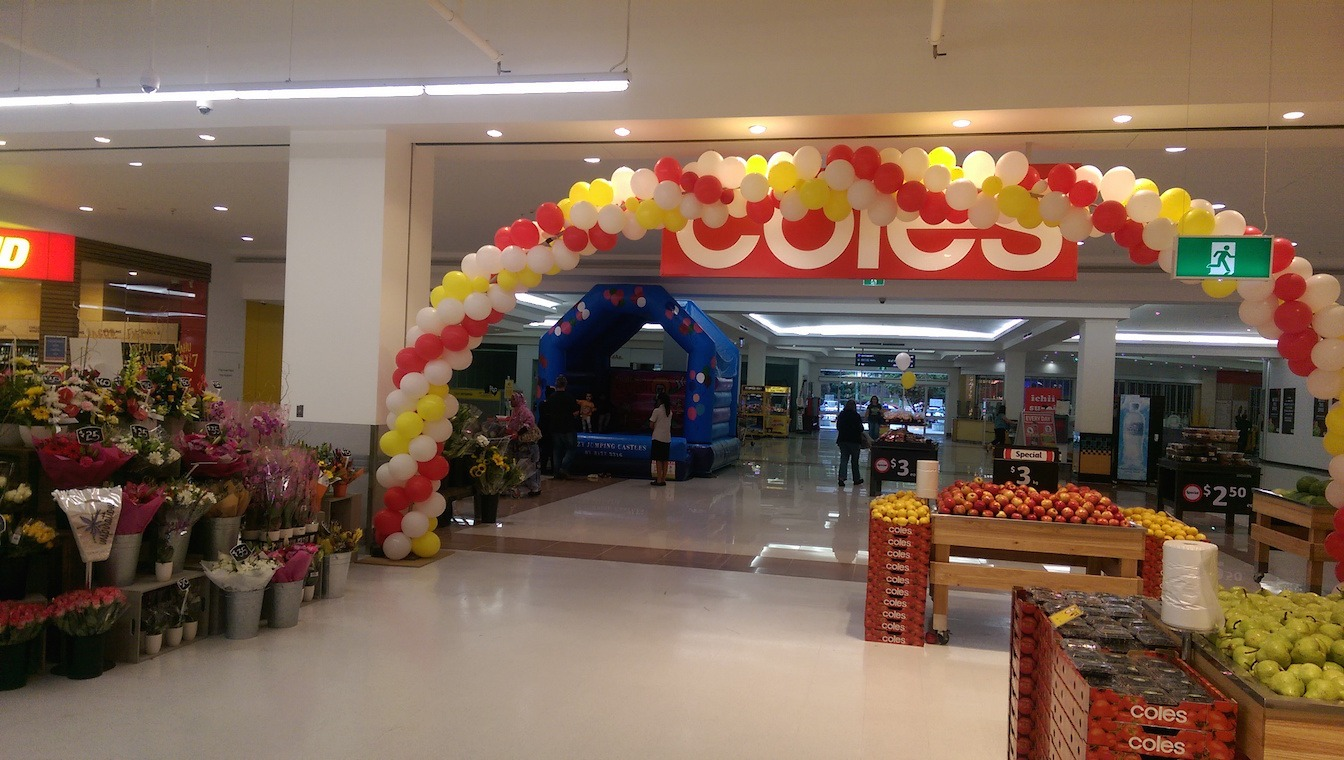 Coles Store Opening with Jumping Castle