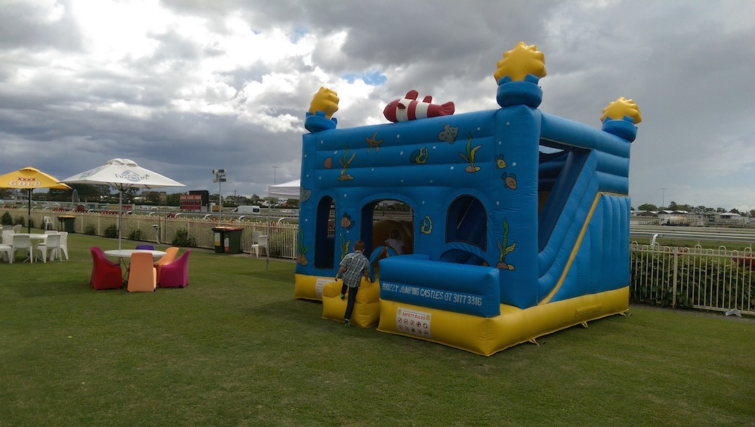 Fish Jumping Castle at Doomben Racecourse