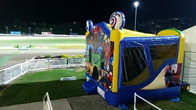 Superhero Bouncy Caste at Brisbane Greyhounds