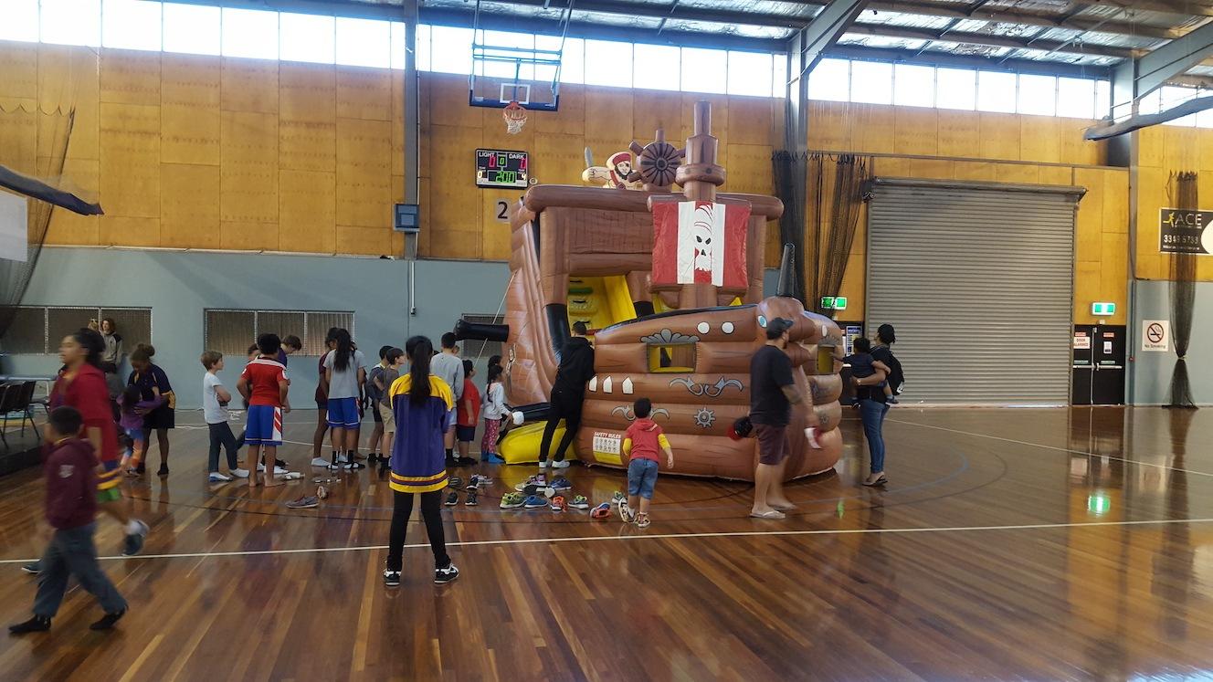 Jumping Castle Basketball Break Up