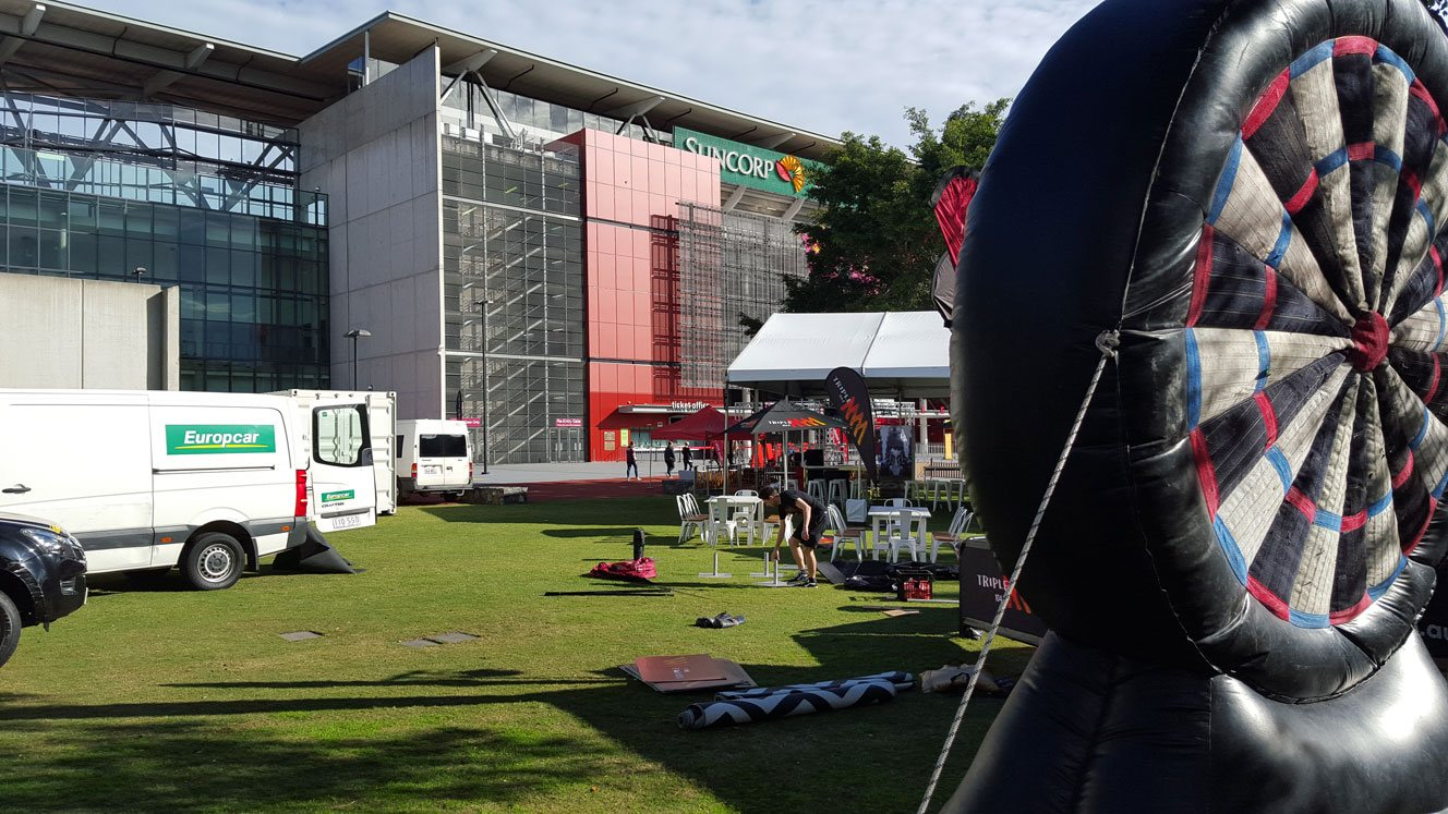 Inflatable Darts at Suncorp Stadium
