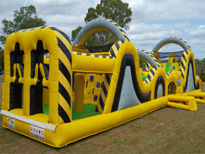 Atomic Inflatable Obstacle Course - Front