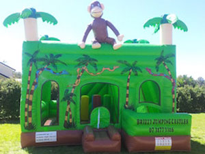 Jungle Jumping Castle Front