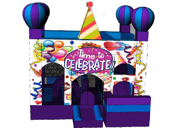 Party Time Combo Jumping Castle - Front