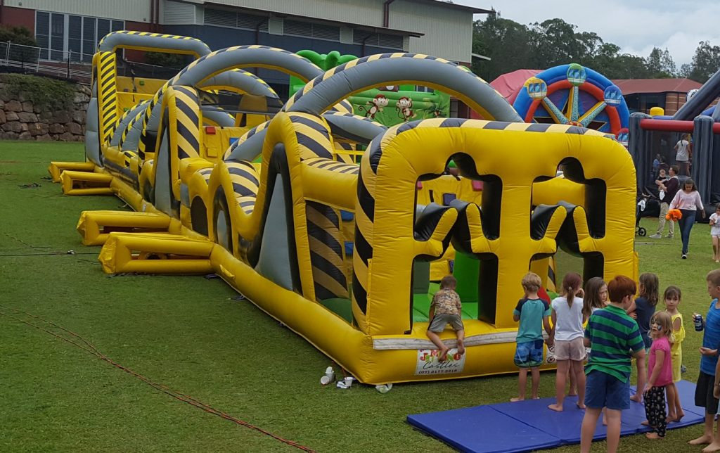 Atomic Mayhem Inflatable Obstacle Course - 4
