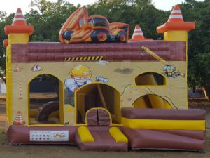 Construction Digger Combo Jumping Castle