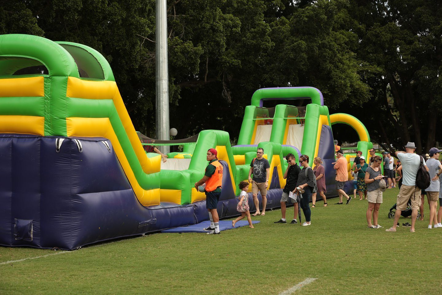 30 Metre Obstacle Course Jumping Castle