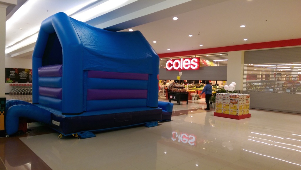 Coles Store Opening Jumping Castles