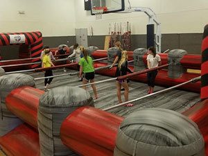 Human Foosball Inflatable hire