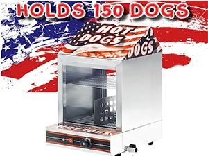 Hot Dog Steamer Hire - Front