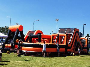 Firestorm Inflatable Obstacle Course Front