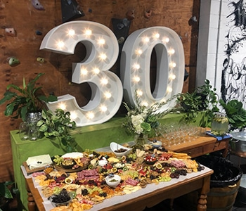 30th Birthday Lights - Grazing Board