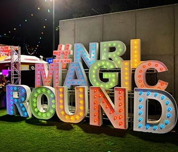 NRL Magic Round Letter Lights