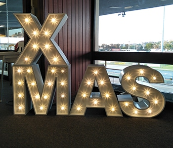 Letter Lights - Xmas Hire