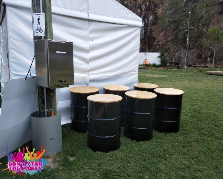 Drum Barrel Bar Table Hire Drum Furniture Don T Stop The Party
